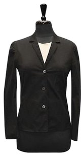 Prada Prada Black Cotton Blend Unlined Stretch Jacket Blazer