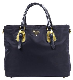 Prada Purse Leather Tote in Black