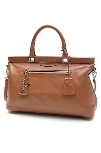 Prada Soft Calf Leather Satchel in Brown