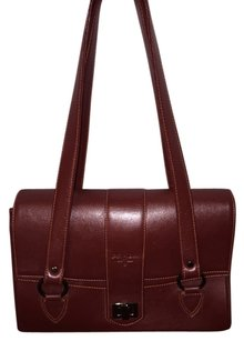 Prada Satchel in oxblood red