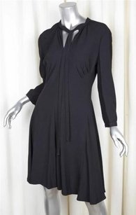 Prada short dress Black 2014 Womens Woven Belted Shift 810 on Tradesy