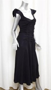 Prada short dress Black Womens Crepe Pleated Scoopneck Midi Shift 426 on Tradesy