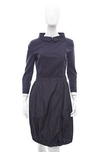 Prada short dress Black 34 Sleeve Ruched on Tradesy