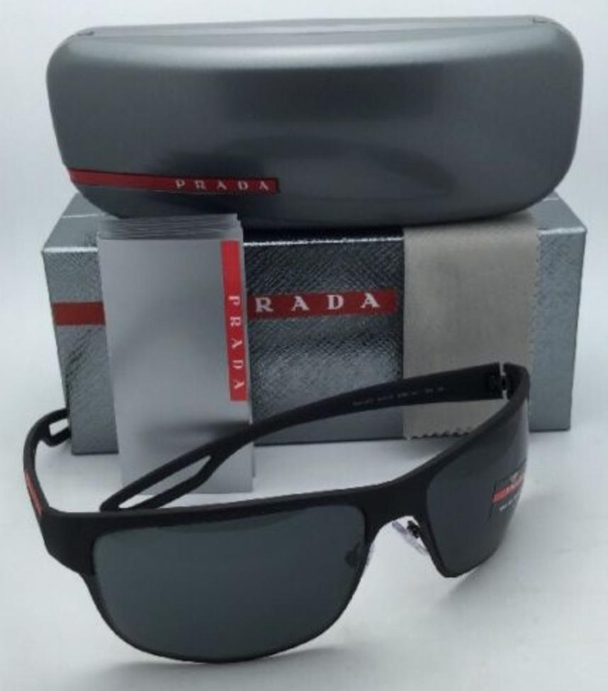 aaca14b86dce spain prada sps 50q dg0 1a1 black rubber frame w grey lenses new 64 18 w