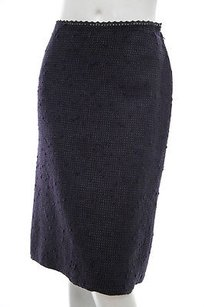 Prada Tweed Boucle Skirt Black