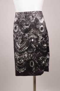 Prada Silk Skirt Gray