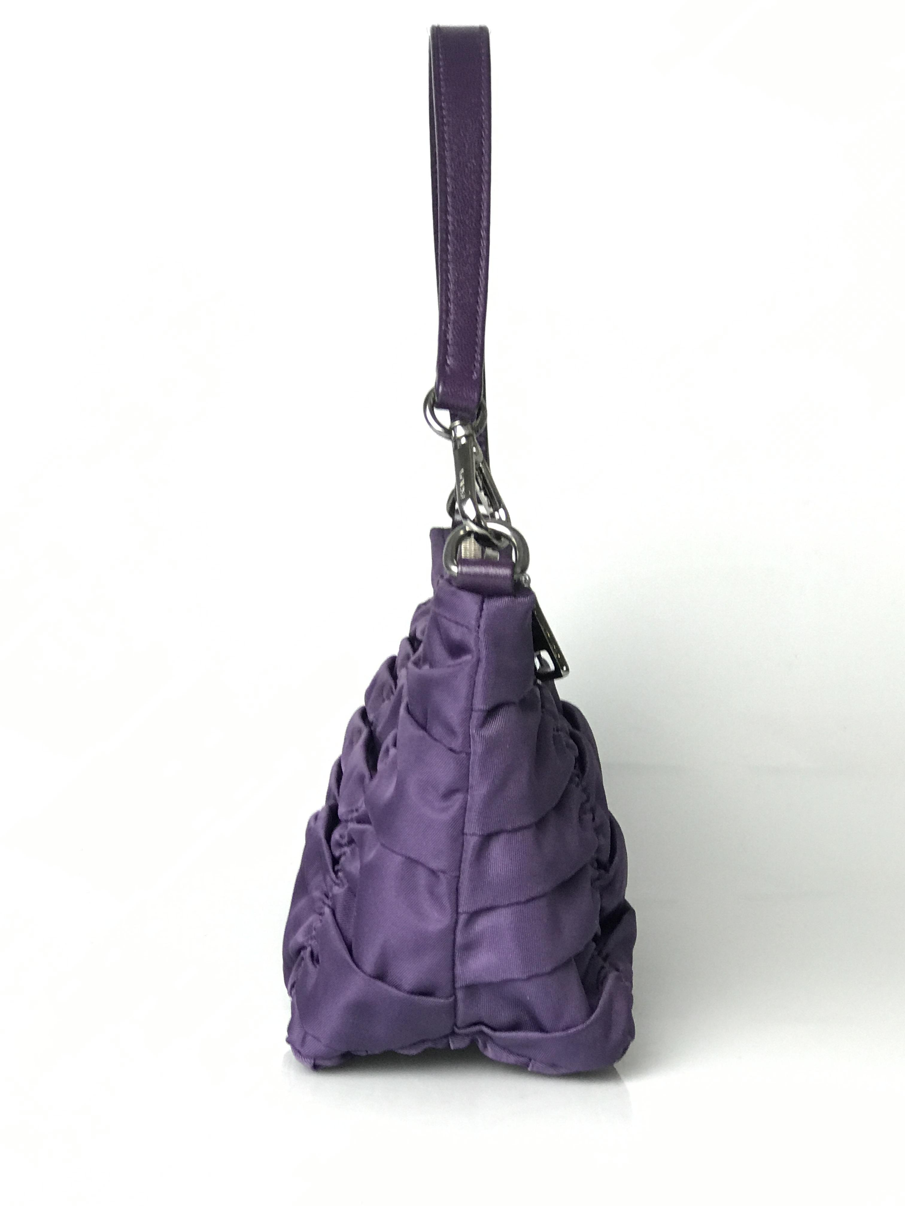 c9202b6ff2c5 ... wholesale prada tessuto gaufre mini shoulder purple nylon leather hobo  bag tradesy 56495 978c7