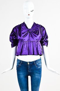 Prada Royal Pleated Top Purple