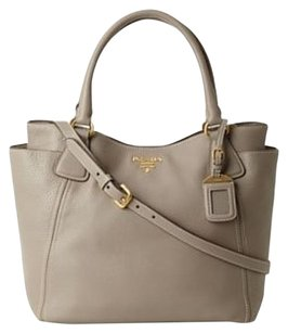 Prada Vitello Argilla Tote in Taupe