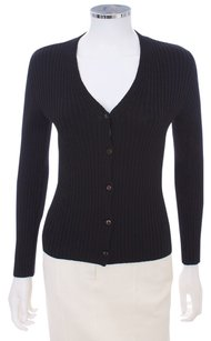 Prada Wool Ribbed Cardigan