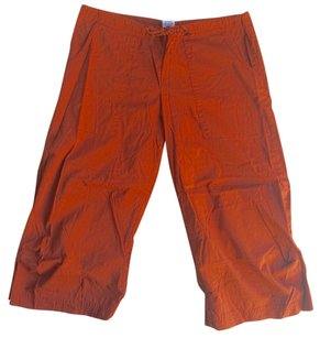 prAna COTTON Cargo Cropped Pants RUST SIZE SMALL