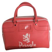 Pringle of Scotland Satchel in Pink And White