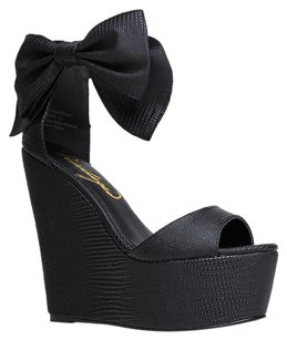 Privileged Black Wedges