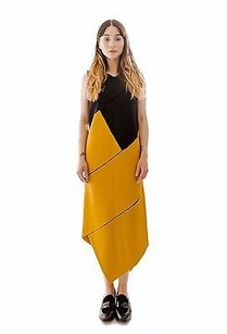 Proenza Schouler short dress Multi-Color Black Yellow on Tradesy
