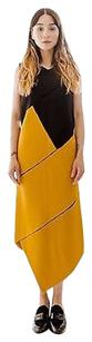 Proenza Schouler short dress Multi-Color Proenza Black Yellow Colorblock Asymmetric Cutout Spinal on Tradesy