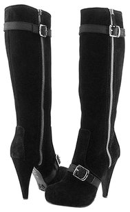 Proenza Schouler Oi0800 Suede Side Black Boots