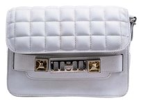 Proenza Schouler Leather Silver Hardware Quilted Cross Body Bag