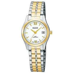 Pulsar Pulsar Pxt812x Two Tone Stainless Bracelet White Dial Womens Watch