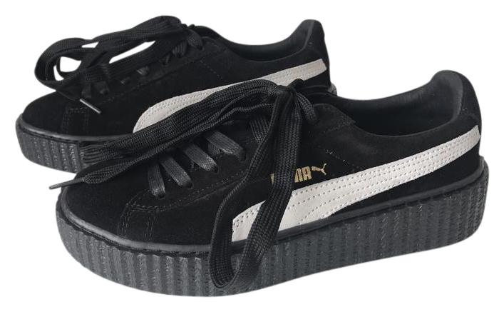 puma creepers black white