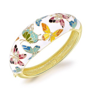 Other Spring of Versaille Butterfly Handcrafted Bangle Bracelet With Austrian Crystals