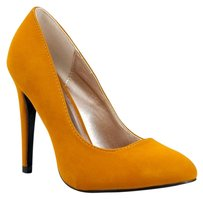 Qupid 30heelsale Closed-toe Gno Yellow Pumps