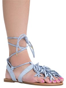 Qupid Blue Sandals