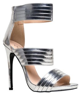 Qupid Silver Sandals