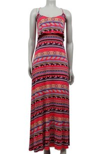 Multi-Color Maxi Dress by Rachel Pally Red Tribal