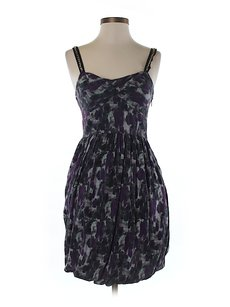 Rachel Roy Silk-blend Print Sleeveless Dress