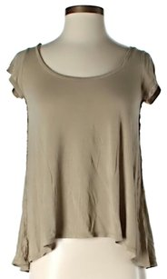 Rachel Roy Hi Lo Viscose T Shirt Tan