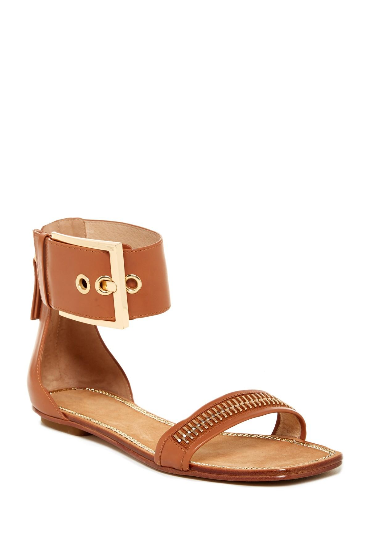 best store to get online order online Rachel Zoe Leather Ankle Cuff Sandals buy cheap pick a best sale online cheap OIEkHHu