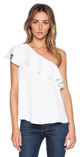 Rachel Zoe Leena One Off Ruffle 2s Top White