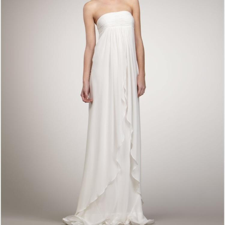 Rachel Zoe Ivory Silk Chiffon Casual Wedding Dress Size 6 (S) ...