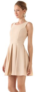 Rachel Zoe short dress Beige Wool Sleeveless Pleated on Tradesy