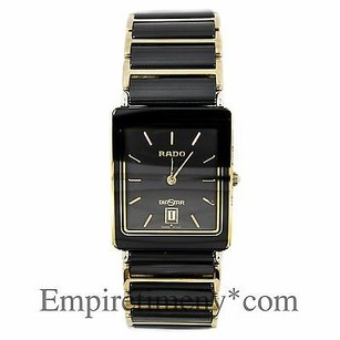 Rado Rado Diastar Date Gold Tone High-tech Ceramic Mens Quartz Watch