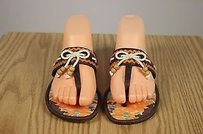 Rafe Womens Brown Leather Multi-Color Sandals