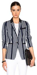 Rag & Bone Striped Silk Black Navy Blazer