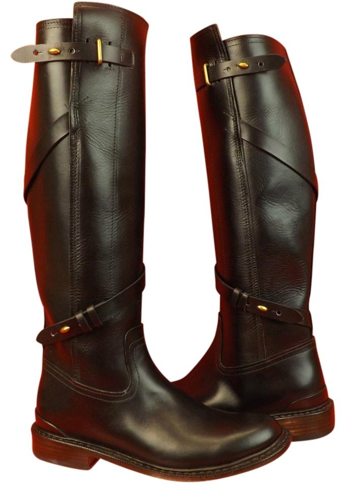 Rag & Bone Black Reed Leather Goodyear Belted Moto Riding 38.5 Boots/Booties Size US 8.5 Regular (M, B)