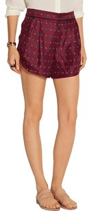 Rag & Bone Dress Silk Dress Shorts Burgundy