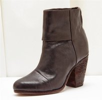Rag & Bone Brown Leather Zipper Heel High Heel Ankle Boots