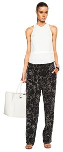 Rag & Bone Harvey Silk Printed Relaxed Pants Black