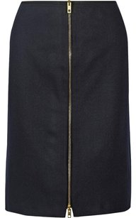 Rag & Bone Mazy Wool Pencil Skirt Black