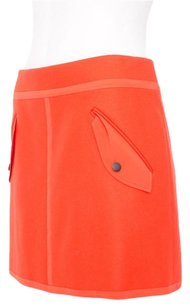 Rag & Bone Wool Silk Mini Skirt Orange