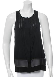 Rag & Bone Sheer Panel Sleeveless Cut-out Top Black