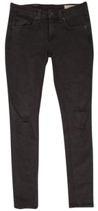 Rag & Bone Womens Black Skinny Rock Distressed Cotton Denim 25 Skinny Jeans