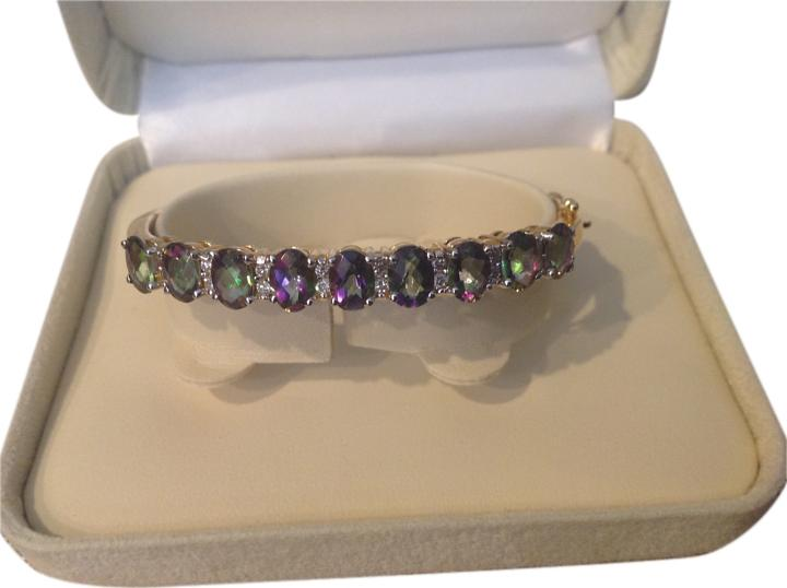 Rainbow Topaz Bangle