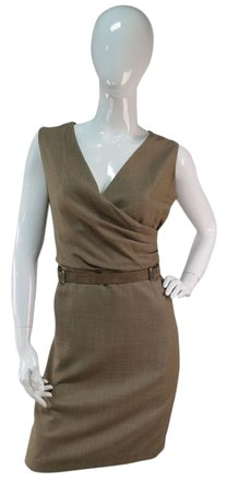 bc7f9c11ed5e0 Ralph Lauren Brown Belted V-neck Casual Dress Womens durable service ...