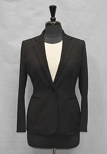 Ralph Lauren B5 Lauren Ralph Lauren Black Twill Single Button Blazer Jacket P