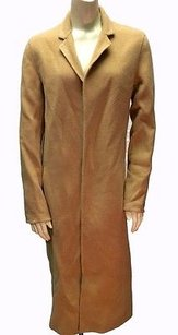 Ralph Lauren Tan Wool Cashmere Blend Open Front Long Hs2608 Coat