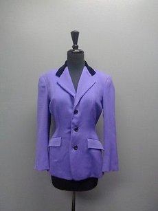 Ralph Lauren Button Up W Lining Wool Sma5359 Purple And Black Jacket